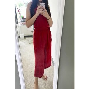 Zara red jumpsuit,NWT, XS